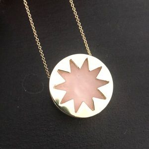 Gold and pink marble necklace